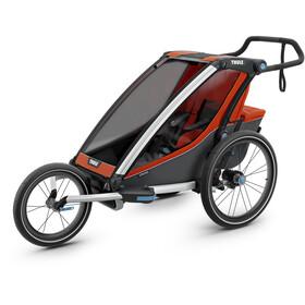 Thule Chariot Cross 1 Fietstrailer, roarange/dark shadow